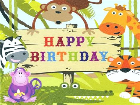 Animated Child Birthday Card Birthday Wishes For Kids Children Quotes And Messages
