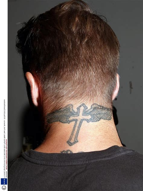 david beckham neck tattoo stencil best tattoo design