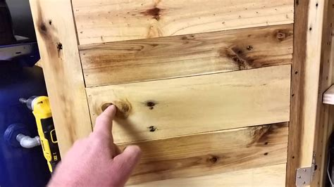 How To Make Rustic Kitchen Cabinets Pallet Wood Cabinet Pt2 Youtube