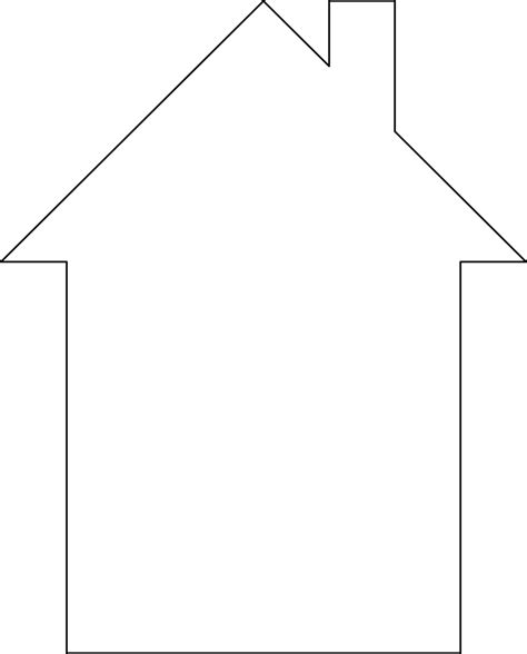 house outline template outline of a house clipart clipartsgram