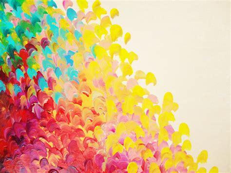 Upscale Home Decor Stores by Sale Abstract Rainbow Splash Ooak Acrylic Painting Beach Art