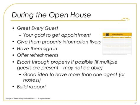 open house guest registration form template how to havea open house by design not by