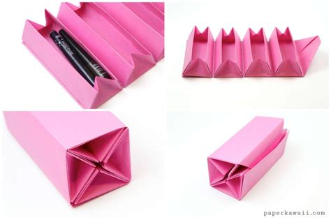 Cool Origami Boxes - origami accordion box tutorial diy roll up box paper