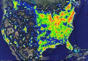 colorado light pollution map the other side of the sky light pollution
