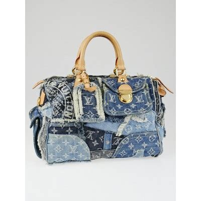 Louis Vuitton Patchwork Bag - louis vuitton limited edition blue denim patchwork denim