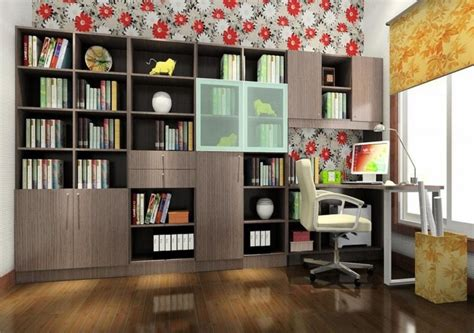 study decor study room ideas with blue wallpaper 3d house