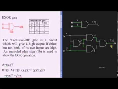 logic behind pattern in c xor gate exclusive or tutorial basic logic gates youtube