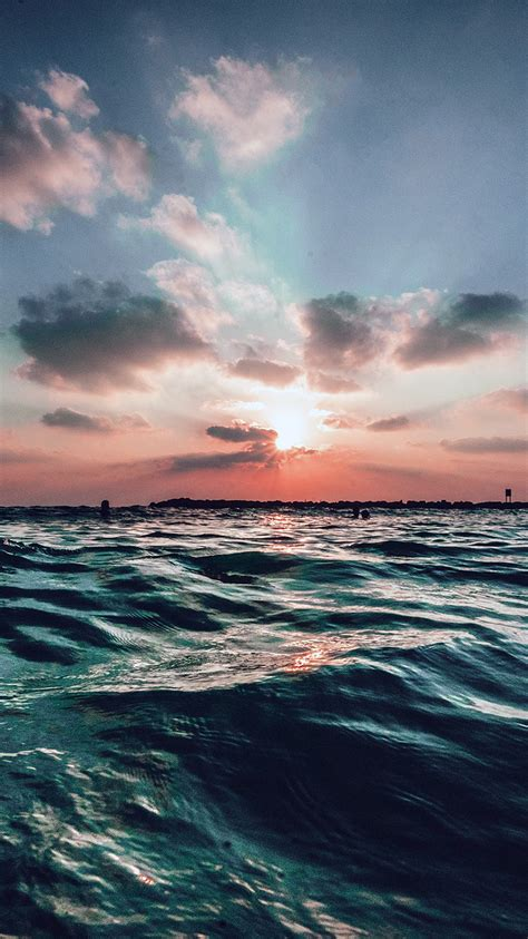 nf sunset sea sky ocean summer blue water nature wallpaper