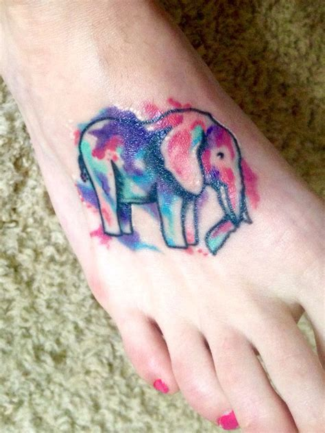 best 25 watercolor elephant tattoos ideas on