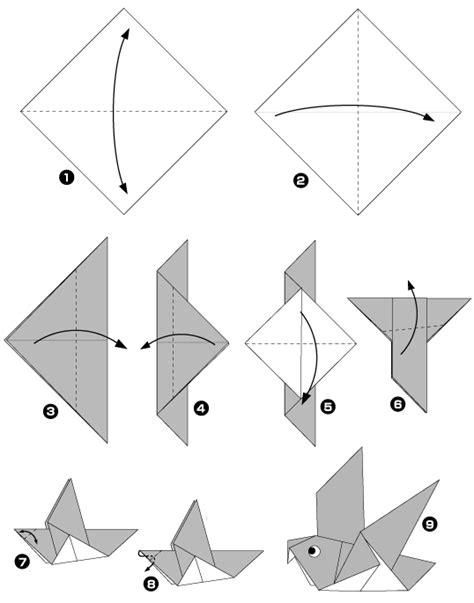 Pigeon Origami - diagramme origami pigeon bricolage origami