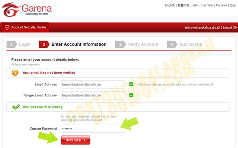 buat akun pb di hp cara buat akun pb garena indonesia plus verifikasi akun pb