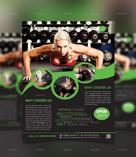 template flyer envato fitness gym flyer template by graphiccenter2 graphicriver