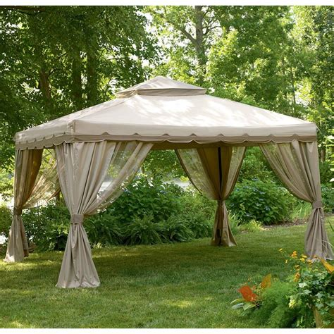 portable patio gazebo garden winds replacement gazebo cover for gazebos sold at sears more