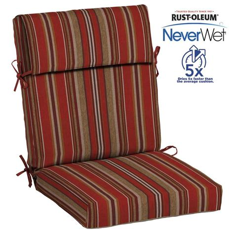 patio chair seat and back cushions shop allen roth neverwet 1 high back patio chair