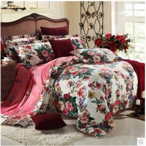 Vintage Bedding Sets Vintage Retro Colorful Floral 100 Cotton Bedding Sets