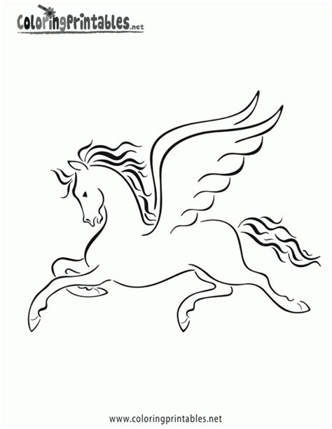 Pegasus Coloring Pages For Kids Az Coloring Pages Pegasus Coloring Page