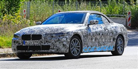 bmw  series convertible spied   road