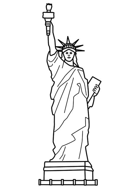 Statue Of Liberty Drawing Template free printable statue of liberty coloring pages for