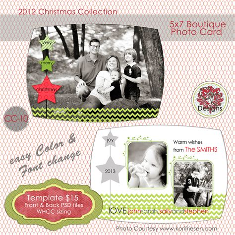 whcc boutique card templates photo card cc 10 card templates on creative market