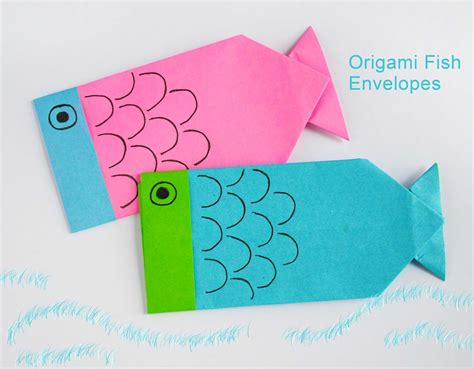 How To Origami Fish - zakka origami fish envelopes