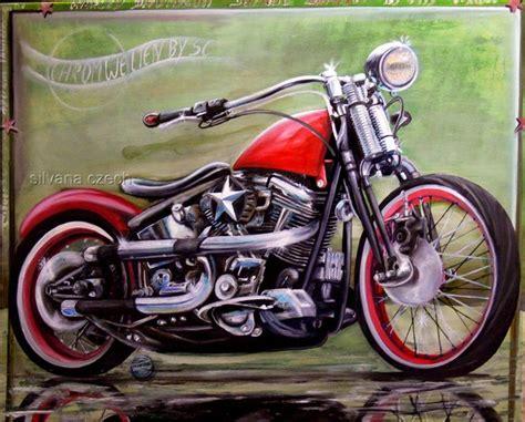 Motorrad Anmelden S W by Softail Springer Harley Davidson Oil Paining 100 80 V