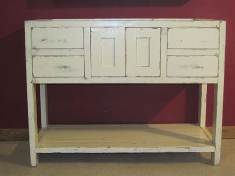 Antique White Cottage Style Vanity Traditional Bathroom Vanities Cottage Style