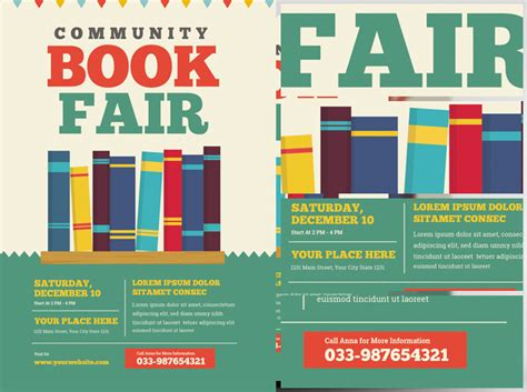 community book fair flyer template flyerheroes