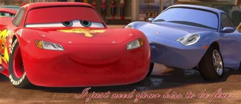 cars sally and lightning mcqueen magic kiss by lightninggirl95 on deviantart