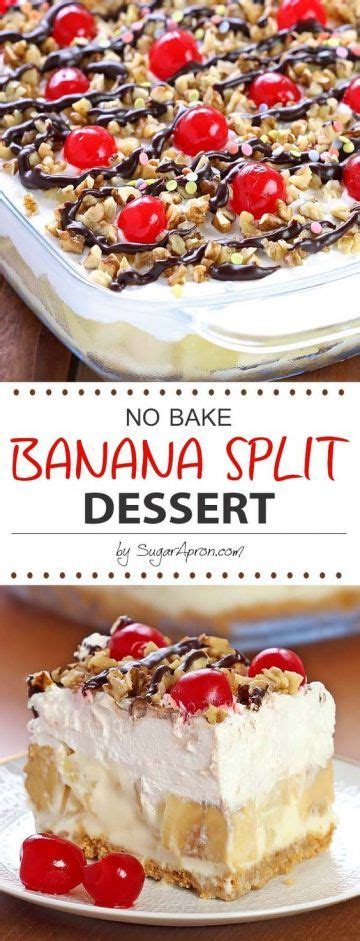 no bake banana split dessert desserts