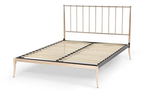 gold bed frame serene saturn 4ft small double rose gold metal bed frame