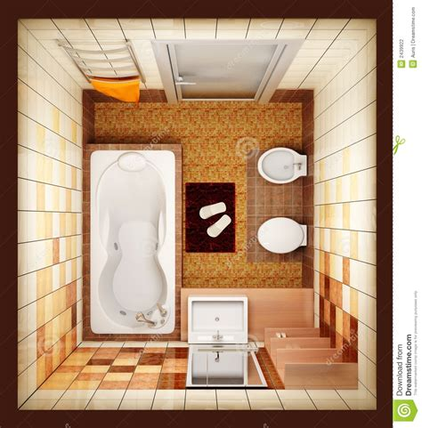 top view bathroom top view of the bathroom stock photography image 2439922
