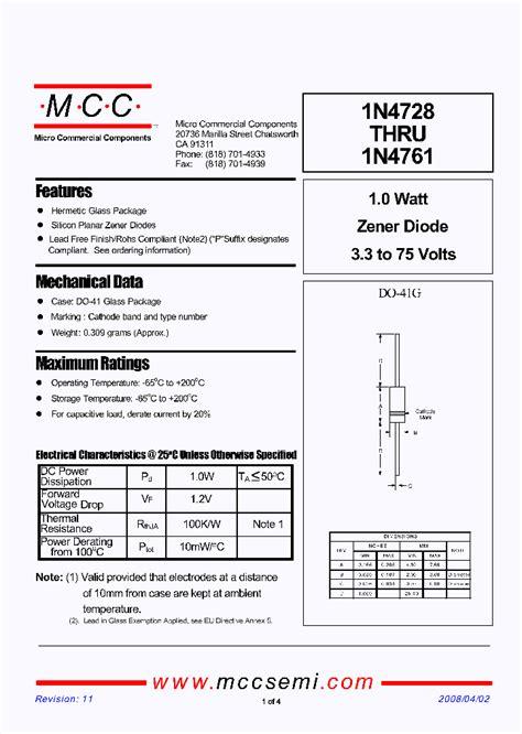 low power zener diode datasheet 1n4758a tp 4258234 pdf datasheet ic on line
