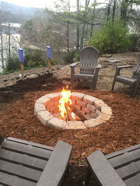 ground fire pit  slope outdoor fire pit designs