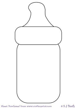 template of baby bottle baby bottle template on craftsuprint designed by sally