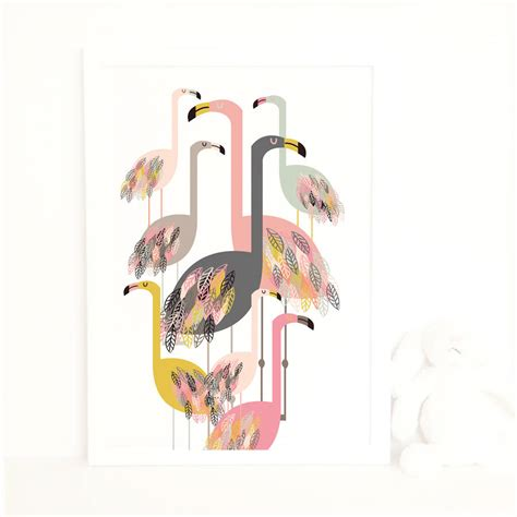 Printed Poster Flamingo flamingo print by studio noodles notonthehighstreet
