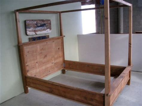 wooden canopy beds farmhouse beds