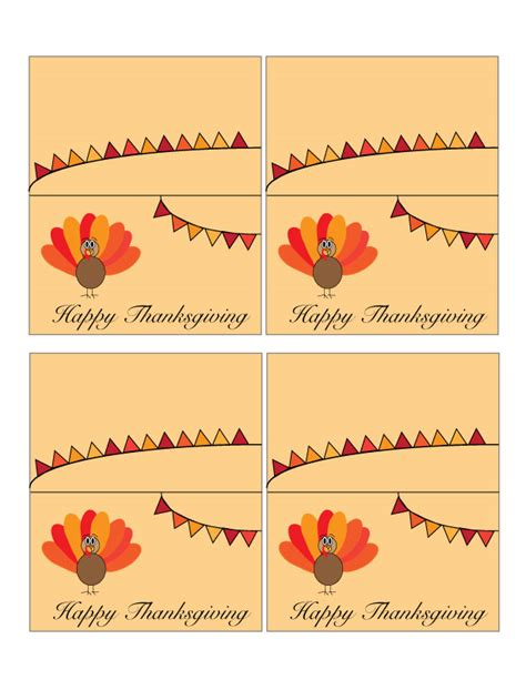 Free Place Card Templates For Thanksgiving by Thanksgiving Place Card Printable Cooking Up Cottage