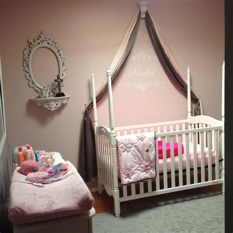 Baby Girl Nursery Fancy Steps My Baby Pinterest Baby Cribs With Drapes