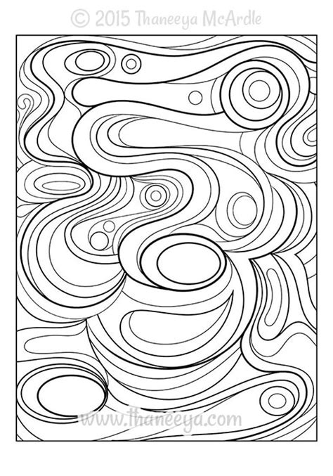 cool abstract coloring pages boys coloring pages