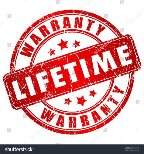 lifetime warrenty lifetime warranty st stock vector illustration