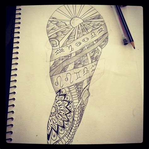 tattoo designs and drawings mens drawings sleeve tattoos amazing