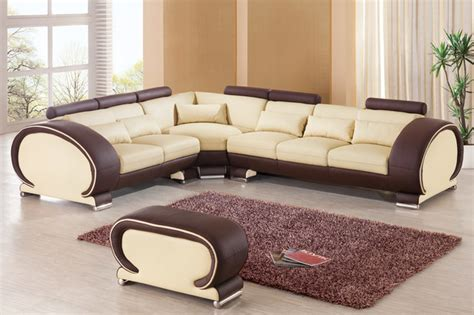 beige leather l shaped sectional sofa set for small living extravagant 1 2 italian leather l shape furniture modern