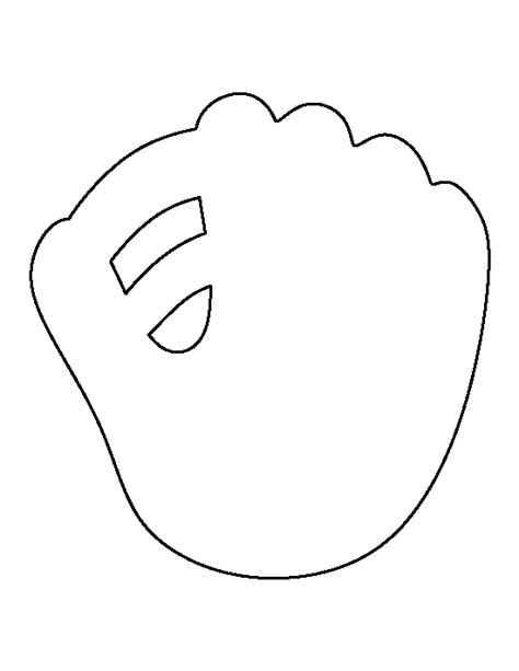 baseball pattern template baseball mitt pattern use the printable outline for