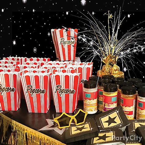 Ideas For Theme - theater popcorn bar idea carpet