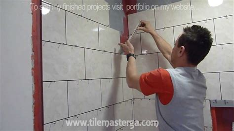 Installing Shower Tile Part Quot 3 Quot Shower Wall Tile Installation Diy How To Install Shower Surround Tiles