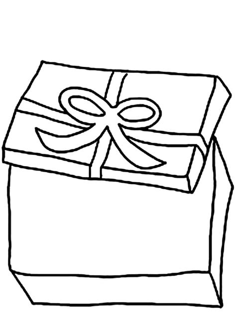 coloring page of gift box open gift boxes coloring coloring pages