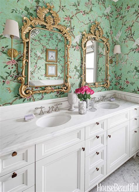 wallpaper bathroom designs 30 gorgeous wallpapered bathrooms