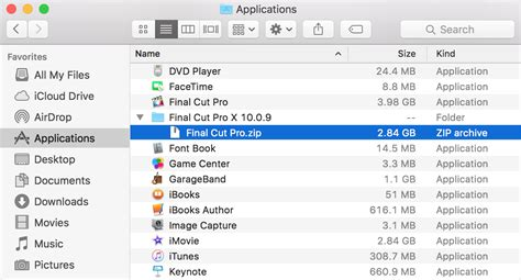 final cut pro zip file back up final cut pro x 10 0 0 10 0 9 apple support