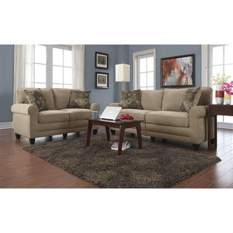serta living room furniture 2 piece fabric sofa set in vanity cr 43531 43536 pkg