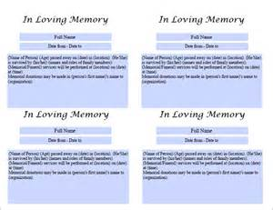 free printable obituary templates best photos of obituary template for printing free